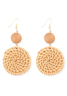 www.snowfall-beads.com - Straw ear studs round 77x40mm - J07266