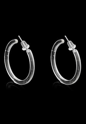 www.snowfall-beads.com - Synthetic open hoop earrings 30mm