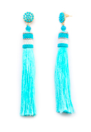 www.snowfall-fashion.co.uk - Ear studs with tassel and seed beads 10x1cm - J07319