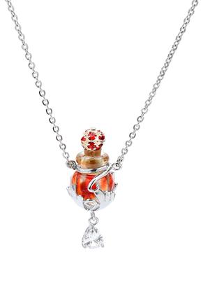 www.snowfall-beads.nl - Halsketting met glazen flesje en cadeaudoosje 55cm ^