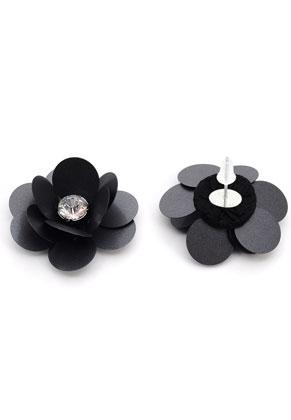 www.snowfall-beads.fr - Boucles d'oreilles avec fleur 35x25mm