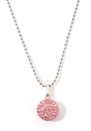 www.snowfall-beads.com - Stainless steel necklace with polymer clay pregnancy bells bola