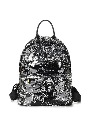 www.snowfall-fashion.com - Backpack with reversible sequins 33x18x11cm