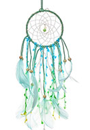 www.snowfall-fashion.co.uk - Pendant dreamcatcher with feathers and LED lights 47x11cm - J07827