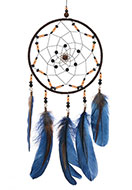 www.snowfall-fashion.co.uk - Pendant dreamcatcher with feathers 51x16cm - J07830