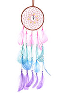 www.snowfall-fashion.co.uk - Pendant dreamcatcher with feathers 61x13cm - J07856