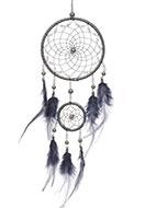 www.snowfall-fashion.co.uk - Pendant dreamcatcher with feathers 48x11cm - J07859