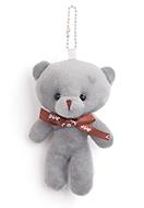 www.snowfall-beads.com - Textile pendant/key fob bear 13x8cm - J07912