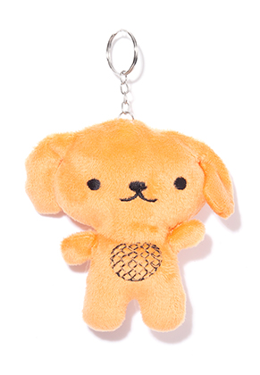 www.snowfall-beads.com - Textile key fob dog 11x10cm
