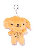 www.snowfall-beads.com - Textile key fob dog 11x10cm - J07914