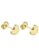 www.snowfall-fashion.co.uk - Stainless steel ear studs heart 14x7mm - J08098