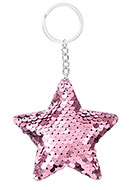 www.snowfall-fashion.com - Key fob with reversible sequins star - J08226