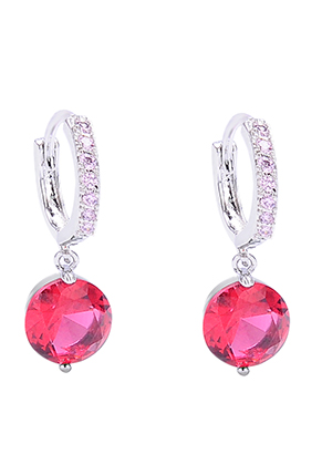 www.snowfall-beads.com - Earrings with  strass 22x12,5mm