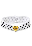 www.snowfall-fashion.co.uk - Bracelet made of elastic band with heart 17cm - J08267