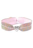 www.snowfall-fashion.nl - Armband van elastisch band met hartje 17cm - J08271