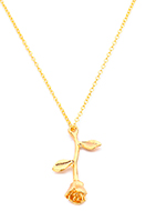 www.snowfall-fashion.com - Necklace with pendant rose 45-50cm - J08284