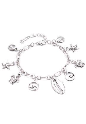 www.snowfall-beads.nl - Armband/enkelbandje met bedels 19-24cm