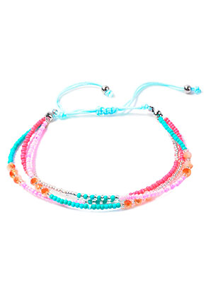 www.snowfall-beads.com - Ibiza Style bracelet with glass beads 17-29cm