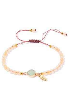 www.snowfall-beads.com - Natural stone bracelet Crystal 15-27cm