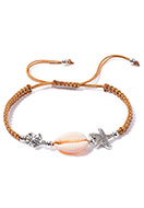 www.snowfall-beads.com - Macrame bracelet with shell 15-27cm - J08514
