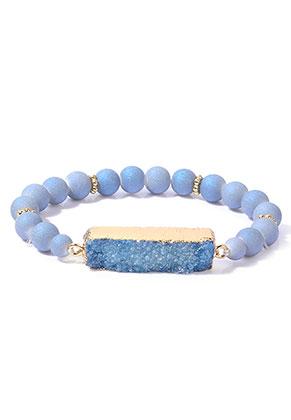 www.snowfall-beads.fr - Bracelet avec pierre fine Crystal 20cm