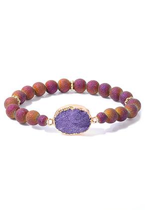 www.snowfall-mode.be - Bracelet avec pierre fine Crystal 18cm
