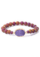 www.snowfall-fashion.com - Bracelet with natural stone Crystal 18cm - J08549