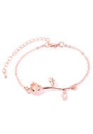 www.snowfall-beads.co.uk - Bracelet with rose 19-25cm - J08598