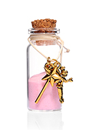 www.snowfall-fashion.com - Glass wish bottle with bracelet fairy 54x22mm - J08641