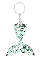 www.snowfall-fashion.com - Key fob with reversible sequins mermaid tail - J08652