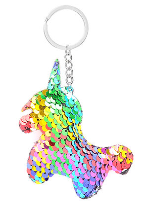 www.snowfall-fashion.co.uk - Key fob with reversible sequins unicorn
