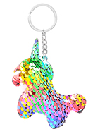 www.snowfall-fashion.co.uk - Key fob with reversible sequins unicorn - J08665