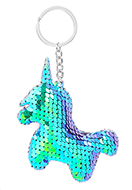 www.snowfall-fashion.co.uk - Key fob with reversible sequins unicorn - J08667