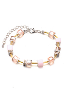 www.snowfall-beads.fr - Bracelet avec perles en verre 19-24cm - J08905