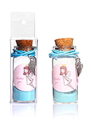 www.snowfall-beads.co.uk - Glass wish bottle with bracelet wing 54x22mm - J08927