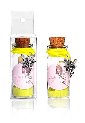 www.snowfall-fashion.co.uk - Glass wish bottle with bracelet fairy 54x22mm