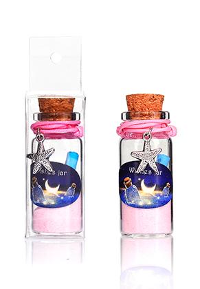 www.snowfall-fashion.co.uk - Glass wish bottle with bracelet starfish 54x22mm