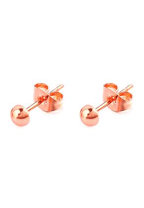 www.snowfall-beads.be - Roestvrijstalen oorstekers half bolletje 13x4mm