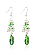 www.snowfall-beads.co.uk - Earrings with tree 62x13mm - J09157