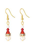www.snowfall-fashion.fr - Boucles d'oreille de noel 44x8mm - J09203