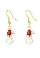 www.snowfall-fashion.fr - Boucles d'oreille de noel 40x10mm - J09204