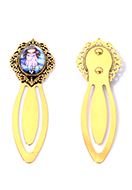 www.snowfall-fashion.co.uk - Metal bookmark with cabochon girl 75x24mm - J09208