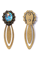 www.snowfall-fashion.co.uk - Metal bookmark with cabochon girl 75x25mm - J09212