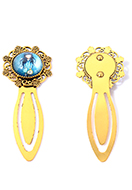 www.snowfall-beads.co.uk - Metal bookmark with cabochon girl 80x30mm - J09223