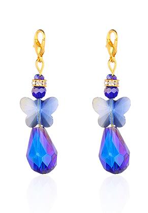www.snowfall-beads.be - EasyCharm hangers engel met slotje 54x15mm