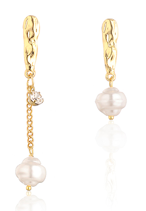 www.snowfall-fashion.com - Earrings with synthetic pearl 31-55x10mm