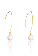 www.snowfall-beads.com - Earrings with mother of pearl 55x10mm - J09331