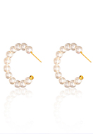 www.snowfall-beads.com - Earrings with mother of pearl 35x6mm - J09337