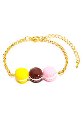 www.snowfall-fashion.be - Armband met macarons 19-26cm