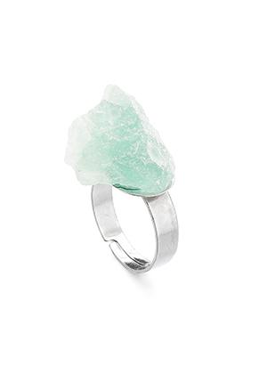 www.snowfall-fashion.fr - Bague avec pierre naturelle Fluorite >= Ø 18mm